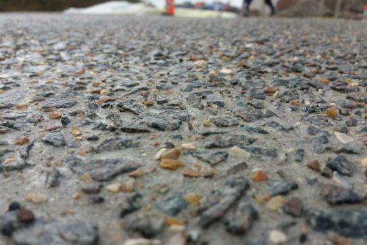 Resultaat uitwassen beton