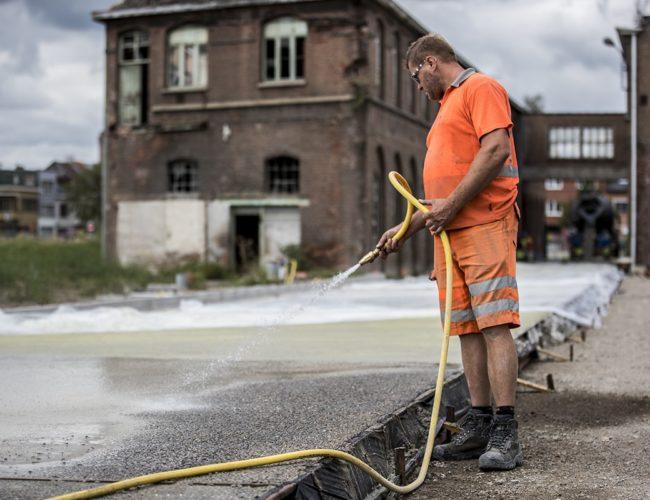 Uitgewassen beton
